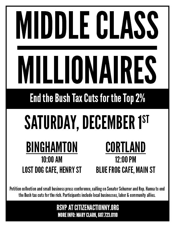 Binghamton: Middle Class Over Millionaires