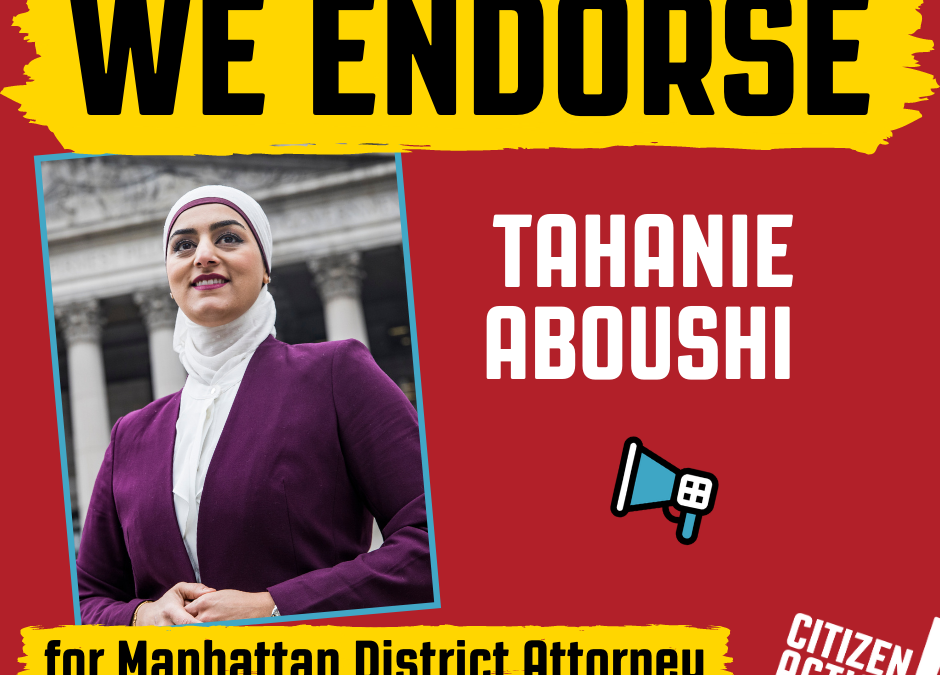 As Manhattan DA, Tahanie Aboushi will fight to end mass incarceration and invest in our communities